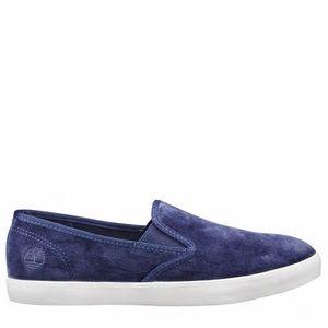 Timberland Dausette slip on velvet navy shoes